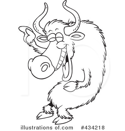 Yak Clipart #434218 - Illustration by toonaday