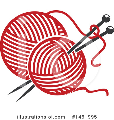 Knitting Clipart #1461995 by Vector Tradition SM