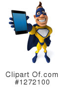 Yellow And Blue Super Hero Clipart #1272100 by Julos