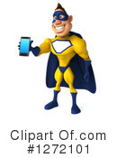 Yellow And Blue Super Hero Clipart #1272101 by Julos