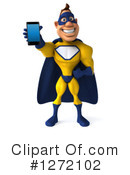 Yellow And Blue Super Hero Clipart #1272102 by Julos