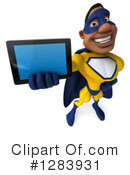 Yellow And Blue Super Hero Clipart #1283931 by Julos