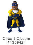 Yellow And Blue Super Hero Clipart #1309424 by Julos