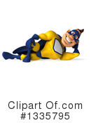Yellow And Blue Super Hero Clipart #1335795 by Julos