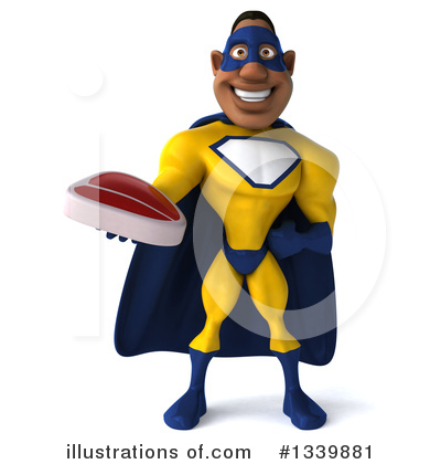 Yellow And Blue Super Hero Clipart #1339881 by Julos