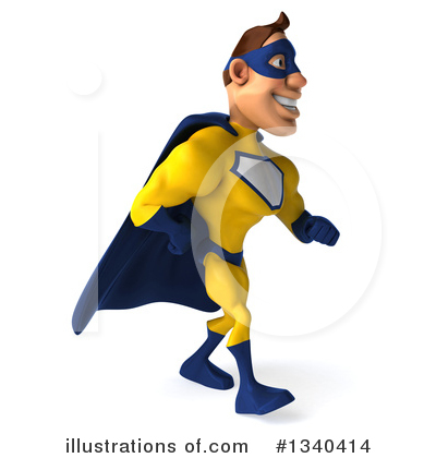 Yellow And Blue Super Hero Clipart #1340414 by Julos