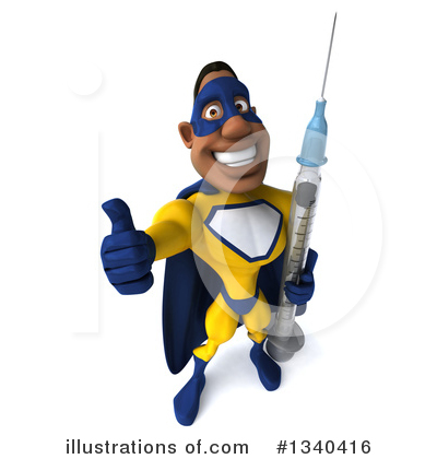 Yellow And Blue Super Hero Clipart #1340416 by Julos