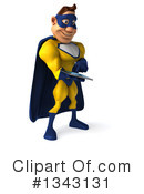 Yellow And Blue Super Hero Clipart #1343131 by Julos