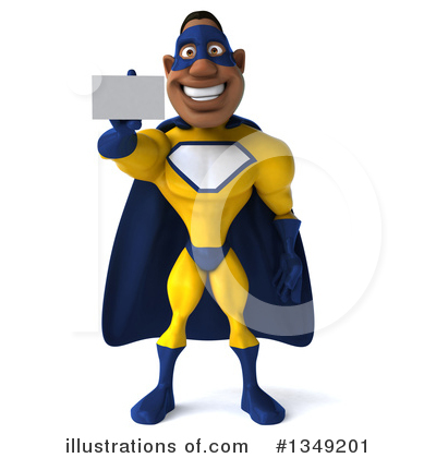 Yellow And Blue Super Hero Clipart #1349201 by Julos