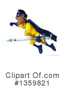 Yellow And Blue Super Hero Clipart #1359821 by Julos