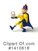 Yellow And Blue Super Hero Clipart #1410618 by Julos