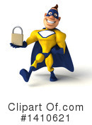 Yellow And Blue Super Hero Clipart #1410621 by Julos