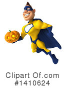 Yellow And Blue Super Hero Clipart #1410624 by Julos