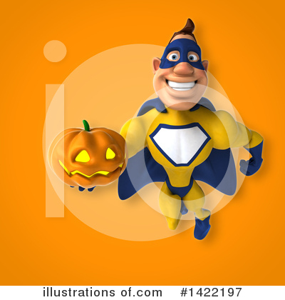 Royalty-Free (RF) Yellow And Blue Super Hero Clipart Illustration by Julos - Stock Sample #1422197