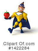 Yellow And Blue Super Hero Clipart #1422284 by Julos
