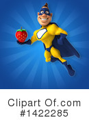 Yellow And Blue Super Hero Clipart #1422285 by Julos