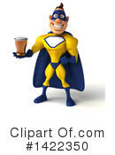 Yellow And Blue Super Hero Clipart #1422350 by Julos