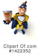 Yellow And Blue Super Hero Clipart #1422352 by Julos