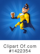 Yellow And Blue Super Hero Clipart #1422354 by Julos