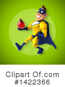 Yellow And Blue Super Hero Clipart #1422366 by Julos