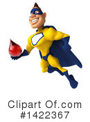 Yellow And Blue Super Hero Clipart #1422367 by Julos