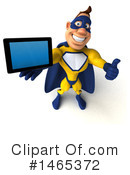 Yellow And Blue Super Hero Clipart #1465372 by Julos