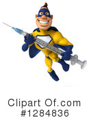 Yellow And Blue Superhero Clipart #1284836 by Julos