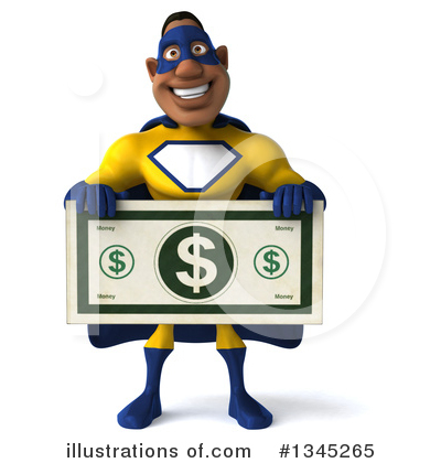 Yellow And Blue Super Hero Clipart #1345265 by Julos