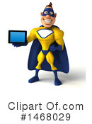 Yellow And Blue Superhero Clipart #1468029 by Julos