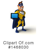 Yellow And Blue Superhero Clipart #1468030 by Julos