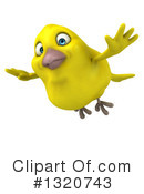 Royalty-Free (RF) Yellow Bird Clipart Illustration #1320743