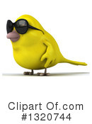 Royalty-Free (RF) Yellow Bird Clipart Illustration #1320744