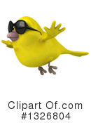 Royalty-Free (RF) Yellow Bird Clipart Illustration #1326804