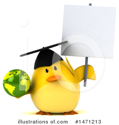 Royalty-Free (RF) Yellow Bird Clipart Illustration by Julos - Stock Sample #1471213