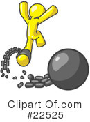 Royalty-Free (RF) Yellow Collection Clipart Illustration #22525