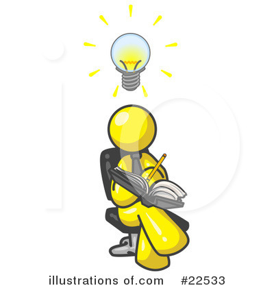 Royalty-Free (RF) Yellow Collection Clipart Illustration by Leo Blanchette - Stock Sample #22533