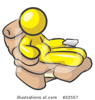 Royalty-Free (RF) Yellow Collection Clipart Illustration by Leo Blanchette - Stock Sample #22557