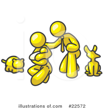 Royalty-Free (RF) Yellow Collection Clipart Illustration by Leo Blanchette - Stock Sample #22572