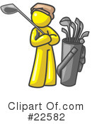 Royalty-Free (RF) Yellow Collection Clipart Illustration #22582
