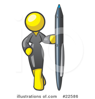Royalty-Free (RF) Yellow Collection Clipart Illustration by Leo Blanchette - Stock Sample #22586
