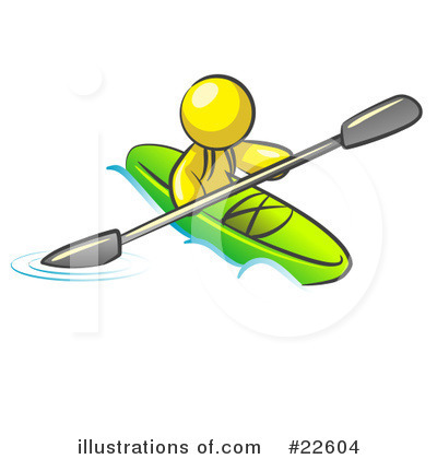 Kayaker Clipart #22604 by Leo Blanchette