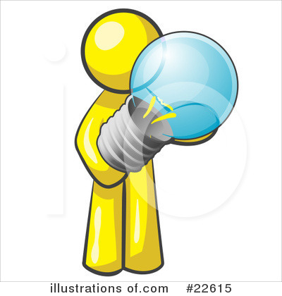 Royalty-Free (RF) Yellow Collection Clipart Illustration by Leo Blanchette - Stock Sample #22615