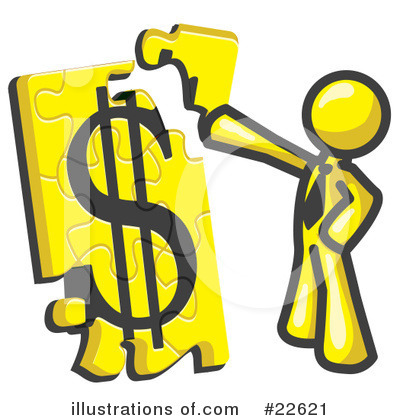 Royalty-Free (RF) Yellow Collection Clipart Illustration by Leo Blanchette - Stock Sample #22621