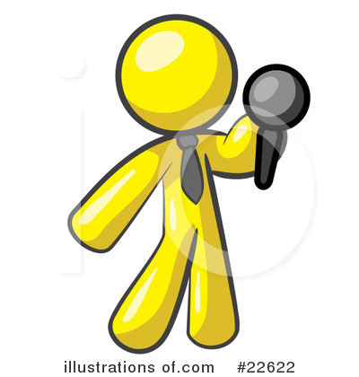 Comedian Clipart #22622 by Leo Blanchette
