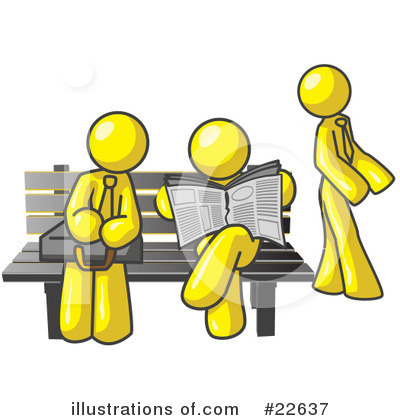 Royalty-Free (RF) Yellow Collection Clipart Illustration by Leo Blanchette - Stock Sample #22637