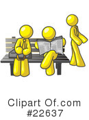 Royalty-Free (RF) yellow collection Clipart Illustration #22637