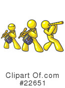 Royalty-Free (RF) yellow collection Clipart Illustration #22651