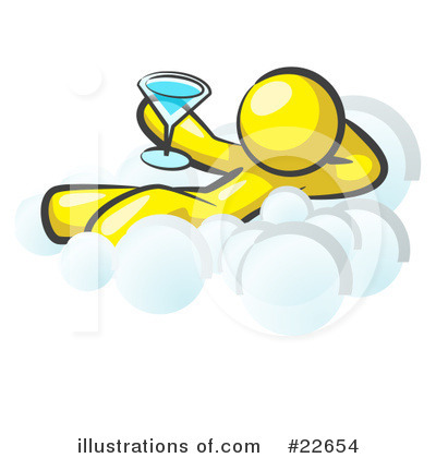 Royalty-Free (RF) Yellow Collection Clipart Illustration by Leo Blanchette - Stock Sample #22654