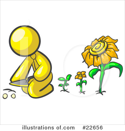 Daisy Clipart #22656 by Leo Blanchette