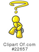 Royalty-Free (RF) Yellow Collection Clipart Illustration #22657